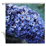 Butterfly Bush Floral Shower Curtain