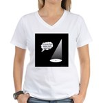 Where's The Spike Mark? Women's V-Neck T-Shirt