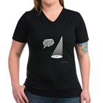 Where's The Spike Mark? Women's V-Neck Dark T-Shir