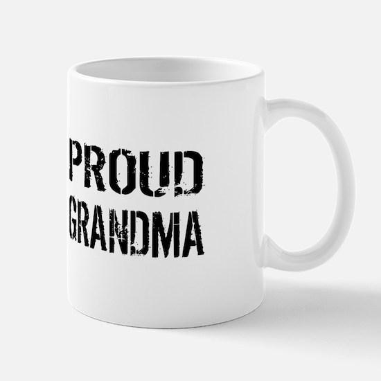 U.S. Flag White Line: Proud Grandma (Wh Mug