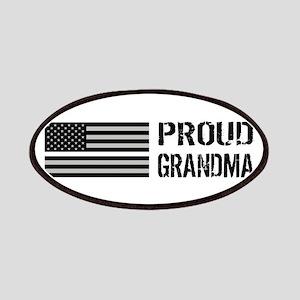 U.S. Flag White Line: Proud Grandma (White) Patch