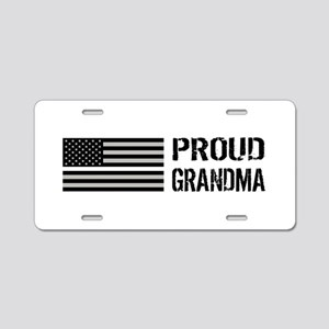 U.S. Flag White Line: Proud Aluminum License Plate