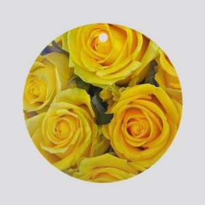 Beautiful yellow roses Round Ornament