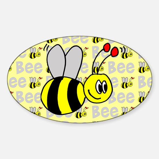 Bumble Bees Oval Decal