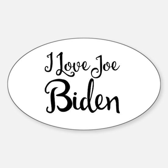 Cute Joe biden Sticker (Oval)