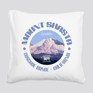 Mount Shasta Square Canvas Pillow