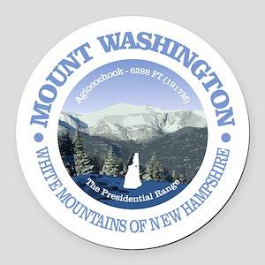 Mount Washington Round Car Magnet