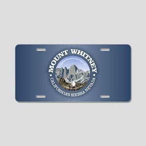 Mount Whitney Aluminum License Plate