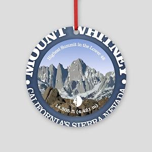 Mount Whitney Round Ornament