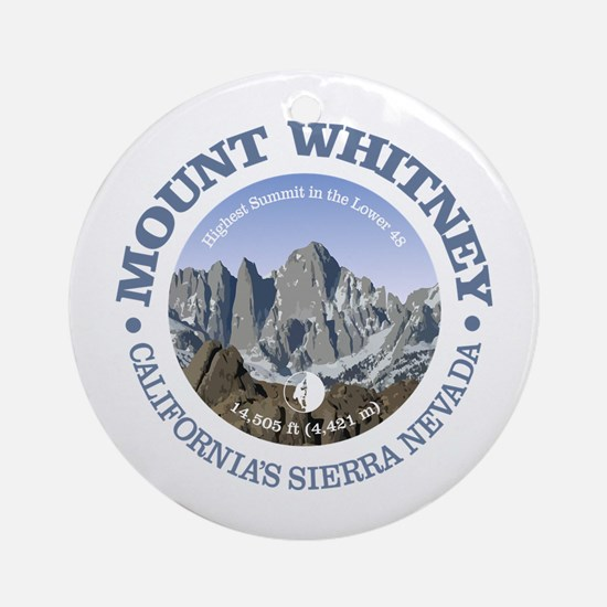 Mount Whitney Round Ornament