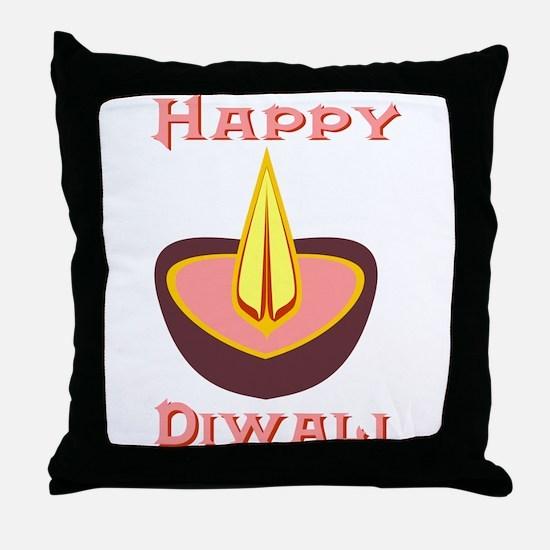 Happy Diwali Throw Pillow