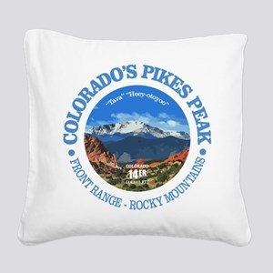 Pikes Peak Square Canvas Pillow