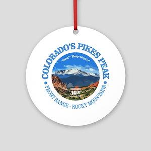 Pikes Peak Round Ornament