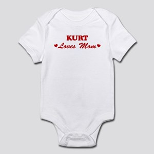 KURT loves mom Infant Bodysuit