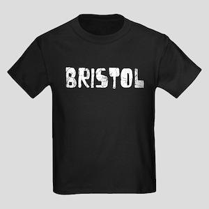 Bristol Faded (Silver) Kids Dark T-Shirt