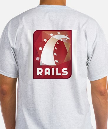 Ruby on Rails Ash Grey T-Shirt