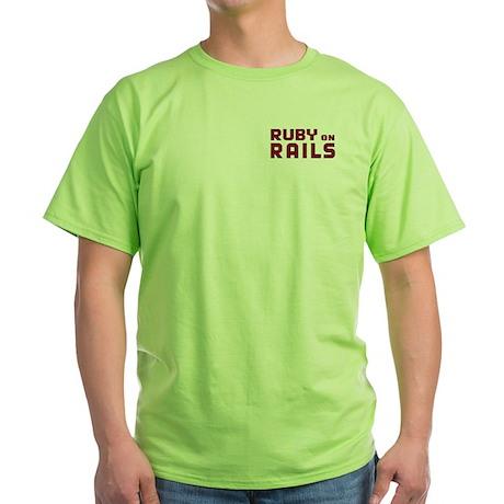Ruby on Rails Green T-Shirt