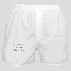 I Love My Canadian Eskimo Dog Boxer Shorts