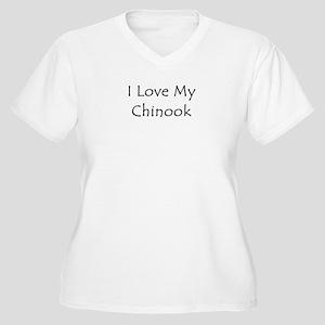 I Love My Chinook Women's Plus Size V-Neck T-Shirt