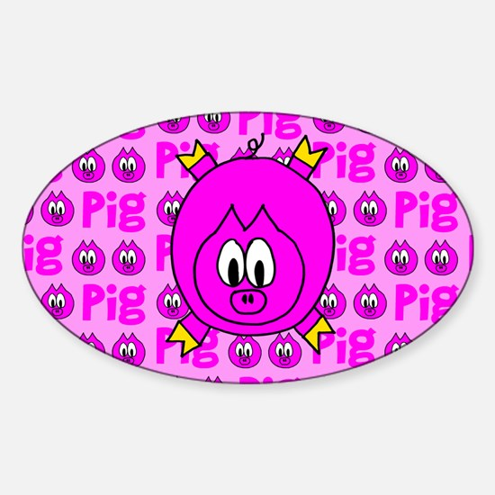 Pig Oval Decal
