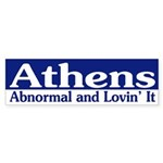 Athens Abnormal bumper sticker