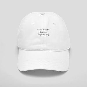 I Love My East German Shepher Cap