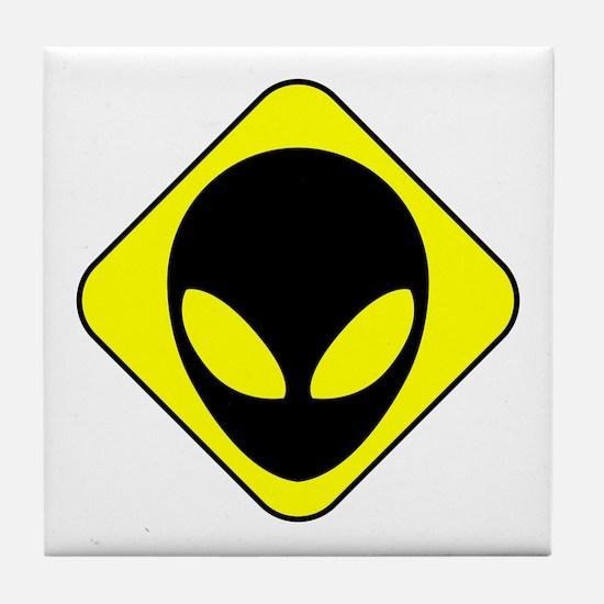 Alien Face Tile Coaster