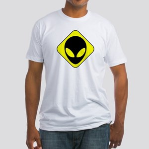 Alien Face Fitted T-Shirt