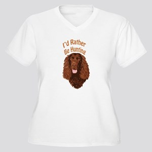 Water Spaniel Hunting Women's Plus Size V-Neck T-S