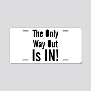 Umsted Design The Only Way Aluminum License Plate