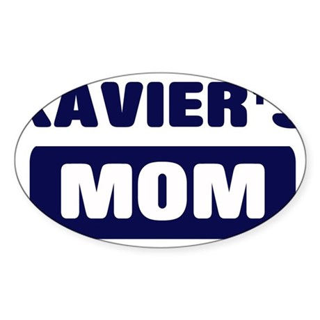 XAVIER Mom Oval Sticker