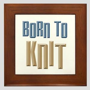 Born to Knit Crafts Framed Tile