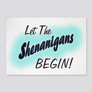 Umsted Design Let The Shenanigans B 5'x7'Area Rug