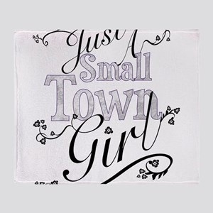 Umsted Design Just A Small Town Girl Throw Blanket