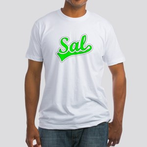 Retro Sal (Green) Fitted T-Shirt