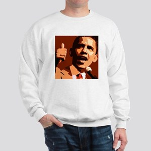 Two Thumbs Up Obama Sweatshirt