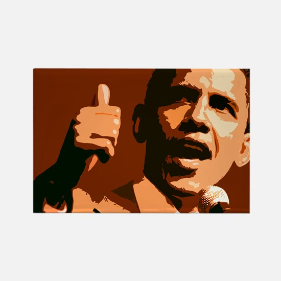 Two Thumbs Up Obama Rectangle Magnet