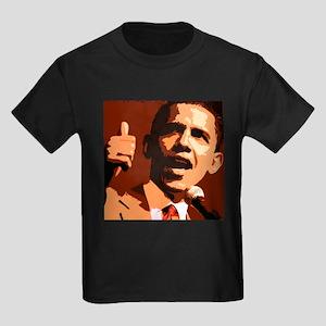 Two Thumbs Up Obama Kids Dark T-Shirt