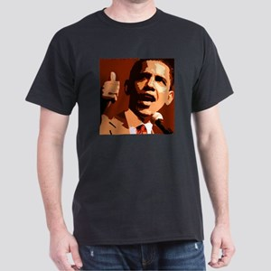 Two Thumbs Up Obama Dark T-Shirt