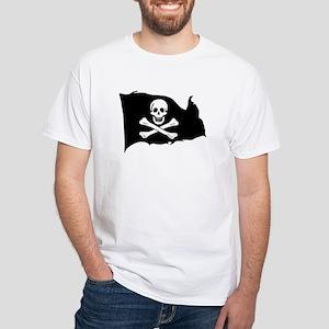 Ed England Jolly Roger White T-Shirt