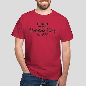 Hiker Devoted Mom Dark T-Shirt