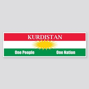 Kurdish Nation Design Bumper Sticker
