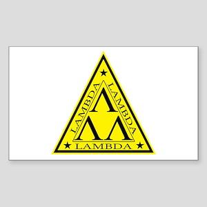 Lambda Lambda Lambda Rectangle Sticker