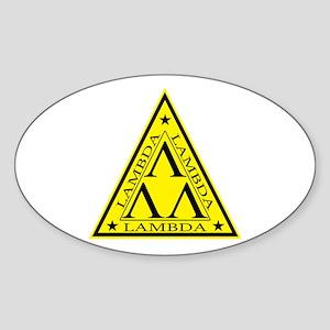 Lambda Lambda Lambda Oval Sticker