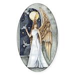 Dove Angel - Night Angel Oval Sticker