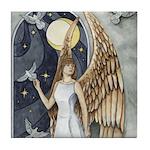Dove Angel - Night Angel Tile Coaster