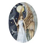 Dove Angel - Night Angel Ornament Keepsake (Oval)