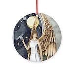 Dove Angel - Night Angel Ornament Keepsake (Round)