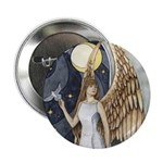 """Dove Angel - Night Angel 2.25"""" Button (10 pack)"""