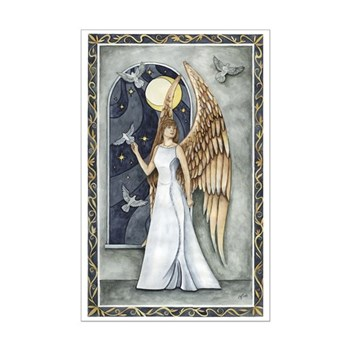 """Dove Angel"" Night Angel Poster Angel Print"